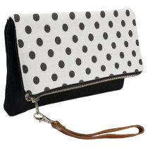 Black and White Polka Dot Clutch