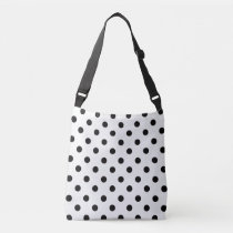 Black and White Polka Dot Crossbody Bag