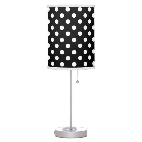 Black and white polka dot desk lamp zazzle black and white polka dot desk lamp aloadofball Gallery
