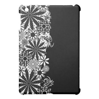 Black And White Polka Dot Florals Speck Case Case For The iPad Mini