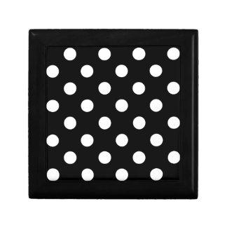 Black and White Polka Dot Keepsake Boxes