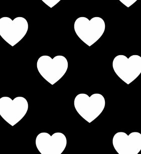 a61aedc5f9ebd0 Black And White Polka Dot Hearts Pattern Apple Watch Band
