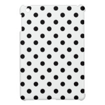 Black And White Polka Dot iPad Mini Cases