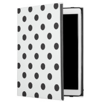 Black And White Polka Dot iPad Pro Case