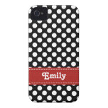 Black and White Polka Dot iPhone 4  4s Case Mate C Case-Mate iPhone 4 Case