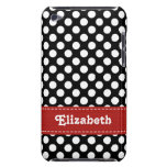 Black and White Polka Dot iPod Touch 4g Case Cover iPod Case-Mate Cases
