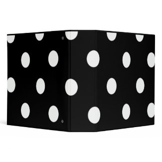 Black And White Polka Dot Keepsake Binder binder