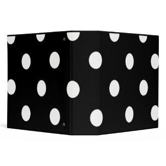 Black And White Polka Dot Keepsake Binder binder