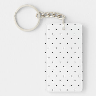 Black And White Polka Dot Keychain