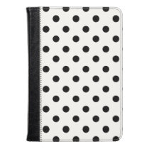 Black And White Polka Dot Kindle Case