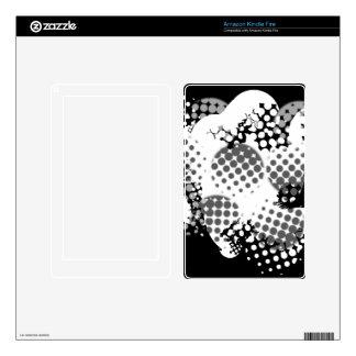 Black and white Polka Dot Kindle Fire Skin