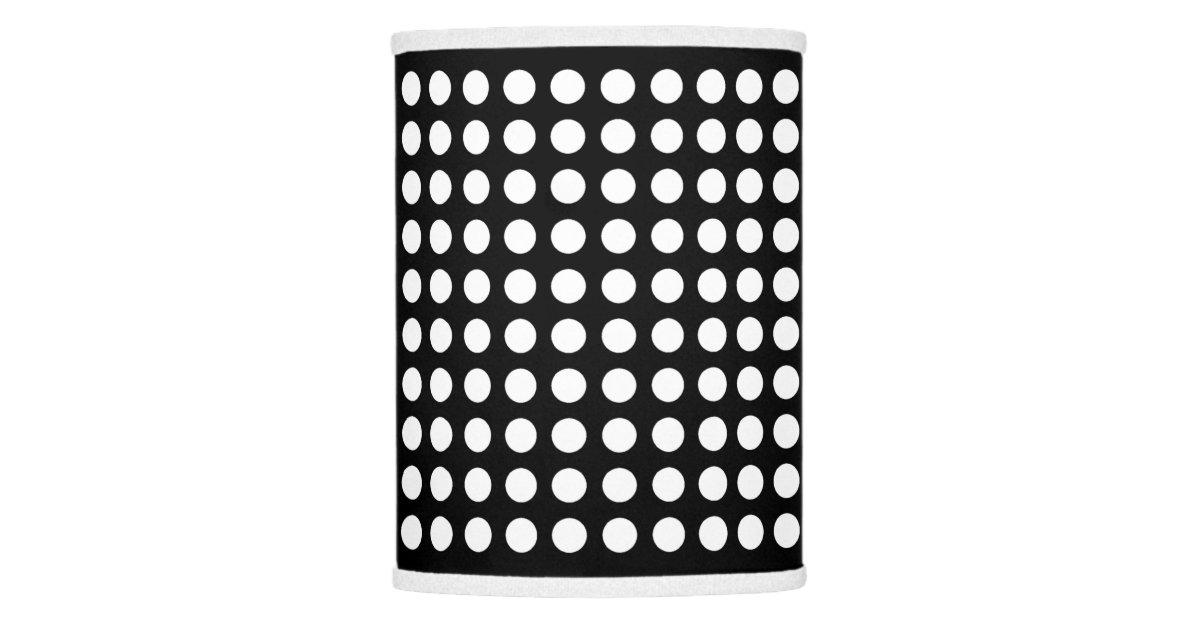 Black and white polka dot lamp shade zazzle aloadofball Gallery