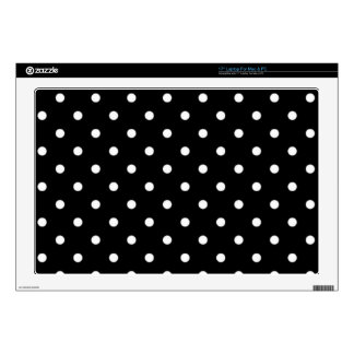 Black And White Polka Dot Laptop Decal