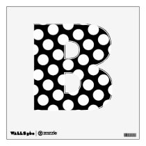 Black and White Polka Dot Letter B Wall Sticker