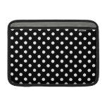 Black and White Polka Dot MacBook Air Sleeve