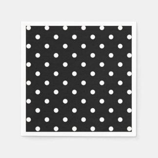 Black and white polka dot modern fashion paper napkin