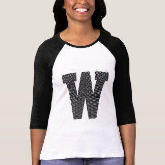 Black and White Polka Dot Monogram T-Shirt