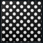 "Black and White Polka Dot Napkin<br><div class=""desc"">The whimsical polka dots in this napkins gives the formal black and white a light touch.  Lovely addition to a black and white table setting and makes a great gift idea,  matching place mats available,  see link below.</div>"
