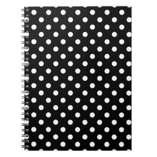 Black and White Polka Dot Spiral Note Books