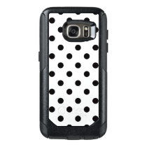 Black And White Polka Dot OtterBox Samsung Galaxy S7 Case
