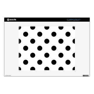 "Black and White Polka Dot Pattern 12"" Laptop Decal"