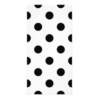 Black and White Polka Dot Pattern Card