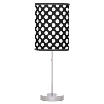Black And White Polka Dot Pattern Desk Lamp