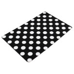 Black And White Polka Dot Pattern Floor Mat at Zazzle