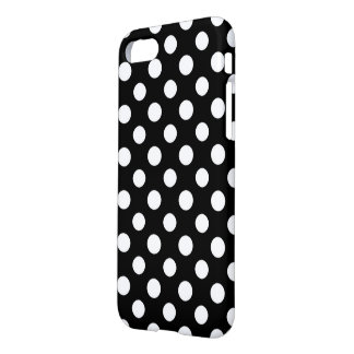 Black and White Polka Dot Pattern Glossy iPhone 8/7 Case