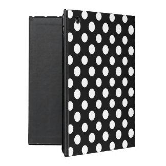 Black and White Polka Dot Pattern iPad Folio Case