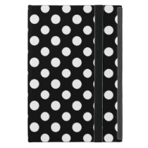 Black and White Polka Dot Pattern iPad Mini Case