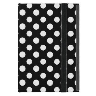 Black and White Polka Dot Pattern iPad Mini Case