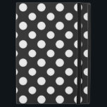 """Black and White Polka Dot Pattern iPad Pro Case<br><div class=""""desc"""">Black and White Polka Dot Pattern Powis iCase iPad Pro Case. Accessorize,  protect,  and turn your iPad into a classic hardcover. Custom made with premium book cloth and finished with glossy laminate,  this hard cover case is a durable and elegant way to show off your favorite designs.</div>"""