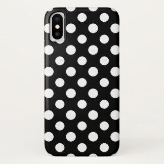 Black and White Polka Dot Pattern iPhone X Case
