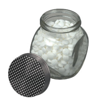 Black and White Polka Dot Pattern Jelly Belly Candy Jar