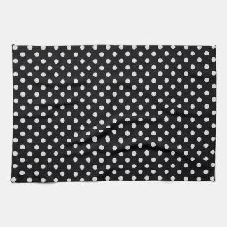 Black and White Polka Dot Pattern Towels