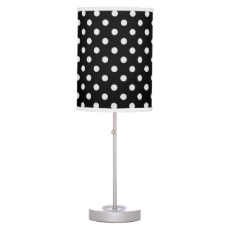 Black and White Polka Dot Pattern Table Lamps