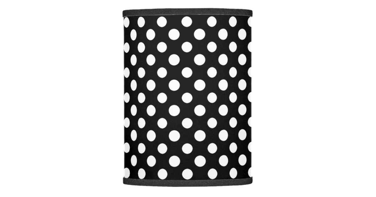 Black and white polka dot pattern lamp shade zazzle aloadofball Gallery