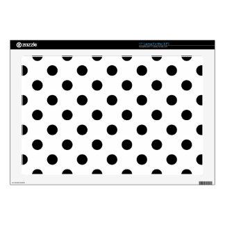 Black and White Polka Dot Pattern Laptop Decals