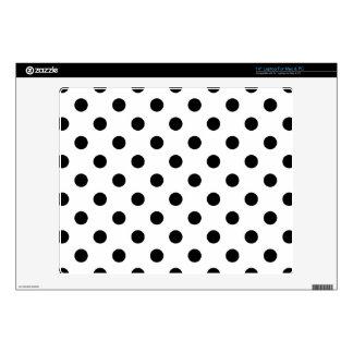 Black and White Polka Dot Pattern Laptop Skin