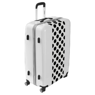 Black And White Polka Dot Pattern Luggage