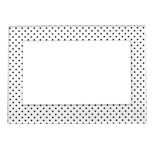 Black and White Polka Dot Pattern Magnetic Picture Frame | Zazzle.com