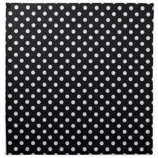 Black and White Polka Dot Pattern Printed Napkin