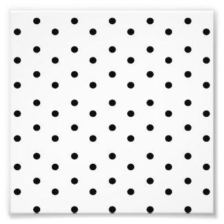 Black and White Polka dot pattern Photo Print