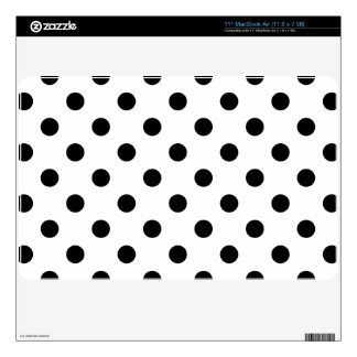 Black and White Polka Dot Pattern Skins For The MacBook