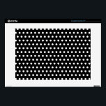 """Black and White Polka Dot Pattern. Spotty. 15&quot; Laptop Decal<br><div class=""""desc"""">A simple design,  a black and white polka dot pattern.</div>"""