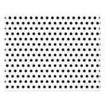 "Black and White Polka Dot Pattern. Spotty. 4.5"" X 5.6"" Flyer"