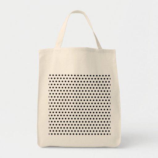 Black and White Polka Dot Pattern. Spotty. Bag