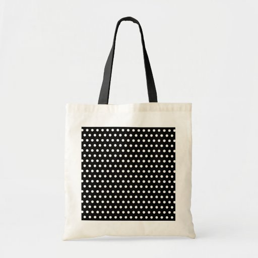 Black and White Polka Dot Pattern. Spotty. Tote Bags