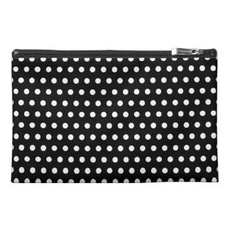 Black and White Polka Dot Pattern. Spotty. Travel Accessory Bags